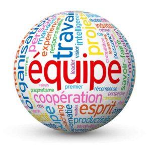 """Globe - Nuage de Tags """"EQUIPE"""" (projets travail esprit d'équipe)"""